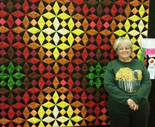 ribbon winner at the annual quilt show