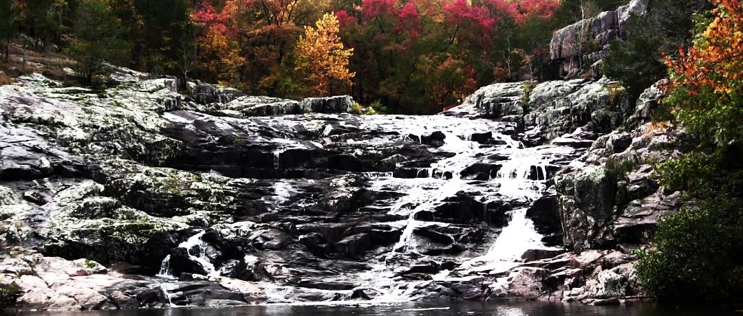 Beautiful Rocky Falls in the autumn